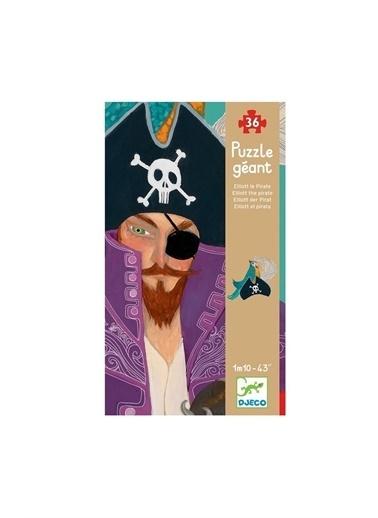 Djeco Djeco Dekoratif Puzzle 36 Parça/ Elliott The Pirate Pembe
